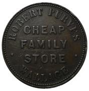 Token - Robert Purves Store (Wallace, Nova Scotia) – obverse