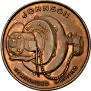 1 Cent - Johnson Motor Co. (Peterborough, Ontario) – obverse
