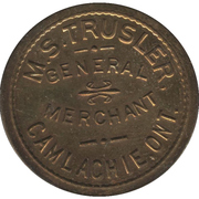 10 Cents - M. S. Trusler (Camlachie, Ontario) – obverse