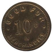 10 Cents - M. S. Trusler (Camlachie, Ontario) – reverse