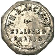 10 Cents - Wm. B. Jackson Billiard Parlour (Petrolia, Ontario) – obverse