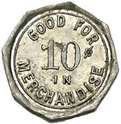10 Cents - Wm. B. Jackson Billiard Parlour (Petrolia, Ontario) – reverse