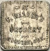 50 Cents - F. Walker's Grocery (Norwich, Ontario) – obverse