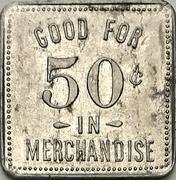50 Cents - F. Walker's Grocery (Norwich, Ontario) – reverse