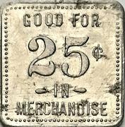 25 Cents - F. Walker's Grocery (Norwich, Ontario) – reverse