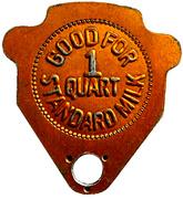 1 Quart Standard Milk - Glen Rae (Ontario) – reverse