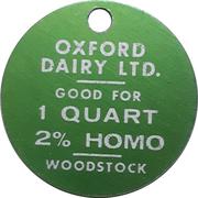 1 Quart 2% Homo - Oxford Dairy (Woodstock, Ontario) – obverse