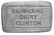 1 Quart Milk - Fairholme dairy (Clinton, Ontario) – obverse