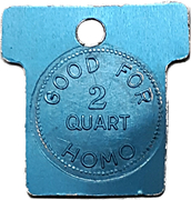 2 Quart Homo - Gardiner's Dairy (Goderich, Ontario) – reverse