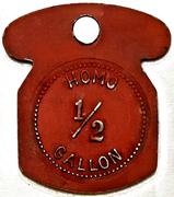 ½ Gallon Homo - Maple Lane Dairy (Kitchener, Ontario) – reverse