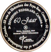 Token - 60 Years of the Liberation of the Netherlands – reverse