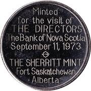 Sherritt Mint Medallion - Bank of Nova Scotia Directors' Visit – obverse