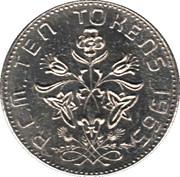 10 Tokens -  Royal Canadian Mint Token – reverse
