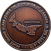 Token - Prince Edward Island Joined The Dominion of Canada 1873 – reverse