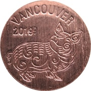 Royal Canadian Mint Token - Vancouver (Year of the Pig) – obverse