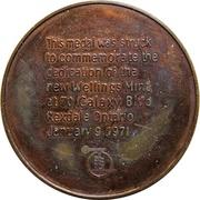 Medal - Wellings Mint – reverse