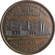 Royal Canadian Mint Token (60th Anniversary) – obverse