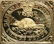 3 Pence (Canada's First Postage Stamp) – obverse