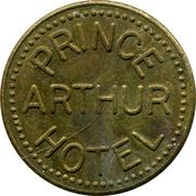 Parking Token - Prince Arthur Hotel (Thunday Bay, Ontario) – reverse