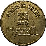 25 Cents Parking Token - Downtown Guelph parking -  reverse
