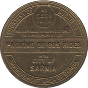 Parking / Transit Token - Downtown Sarnia (Sarnia, Ontario) – reverse