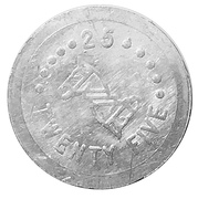 25 Cents (Two Bits Play Coin) – reverse