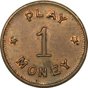 Token - 1 Play Money (with stars) – obverse
