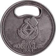 Shopping Cart Token - Union Service Label – obverse
