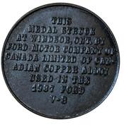 Medallion - George VI and Queen Elizabeth (Ford V-8) – reverse