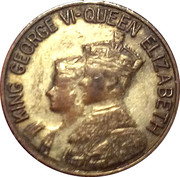 Token - Visit of the King George VI and the Queen Elizabeth to Canada – obverse