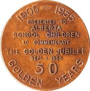 Medallion - Alberta Golden Jubilee – obverse