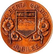 Medallion - Alberta Golden Jubilee – reverse