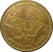 Medal - British Columbia Centenary of Confederation with Canada – reverse