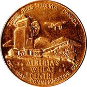 Commemorative Coin - Three Hills, Alberta – reverse