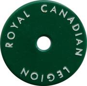 Token - Royal Canadian Legion (Branch 60) – reverse