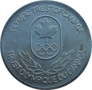 Token - Olympic Trust of Canada (Athletics) – reverse