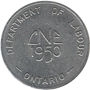 Token - Canadian National Exhibition-Department of Labour (Ontario) – obverse