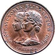 Medal - Confederation Centennial (Victoria & Elizabeth II; Color Bronze) – obverse
