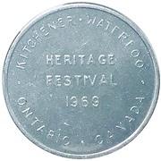 Token - Heritage Festival (Kitchener, Waterloo) – obverse