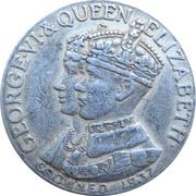 Medal - King George VI and Queen Elizabeth Coronation (Nova Scotia) – obverse