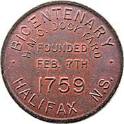 Medal - Bicentenary HMC Dockyard Halifax – obverse