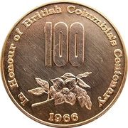 Medal - British Columbia's Centenary & Canadian Confederation – obverse