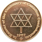 Medal - British Columbia's Centenary & Canadian Confederation – reverse