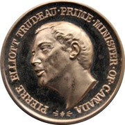 Medal - Piere Elliot Trudeau (Gold-tone) – obverse