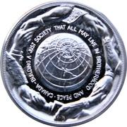 Medal - Piere Elliot Trudeau (Silver-tone) – reverse