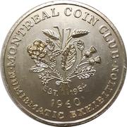 Token - Montreal Coin Club Exhibition – reverse