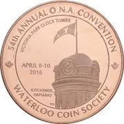 Medal - Ontario Numismatic Association Convention 2016 (Kitchener, Ontario) – obverse