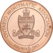 Medal - Ontario Numismatic Association Convention 2013 (Kitchener, ON) – reverse