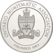 Medal - Ontario Numismatic Association Convention 2013 (Kitchener, Ontario) – reverse