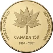 Medal - Waterloo Coin Society (Canada 150) – reverse